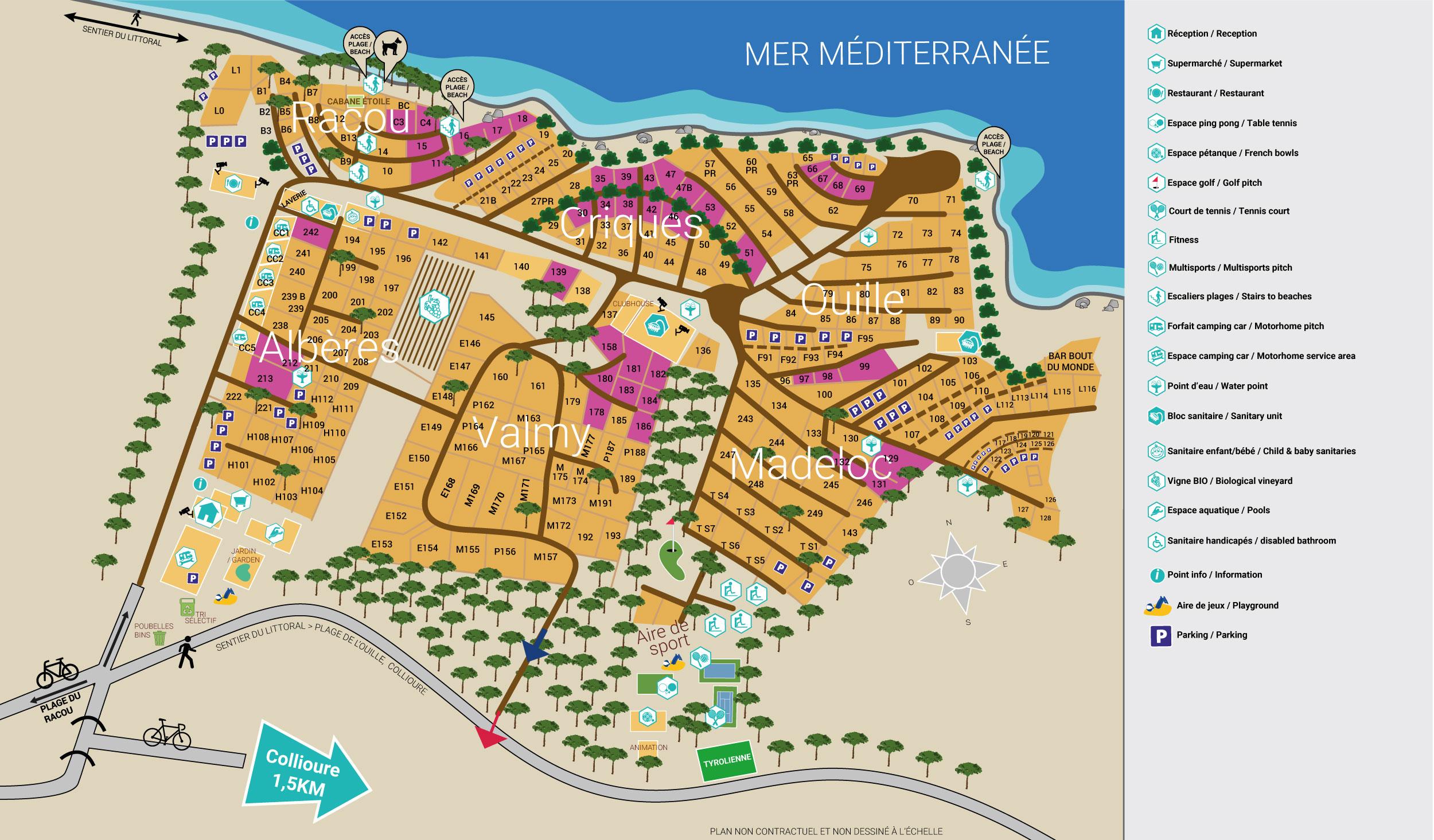 5 Stars Camping Pitches Argelès sur Mer / Collioure | Les ...